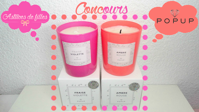 concours bougie popup