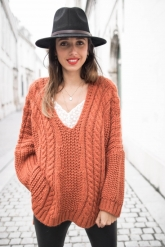 pull-col-v-hiver-epais-rouille